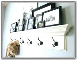 Wall Coat Rack Shelf Custom Wall Coat Hooks With Shelf Black Shelf With Hooks Shelf Wood Wall