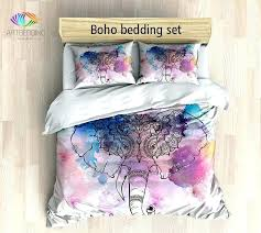 elephant bedding twin set bohemian duvet cover watercolor crib comforter xl