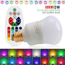 Remote Control Light Bulbs Uk Details About Dimmable 10w E27 Rgb 16 Colour Changing Remote Controlled Led Light Bulb Uk