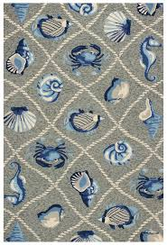 details about area rugs coastal living indoor outdoor rug 3 3 x 5 3 grey nautical