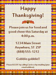 Invitation For Party Template Delectable Happy Thanksgiving Party Invitation Template