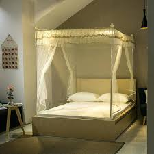 Bedroom Netting Canopy Zipper Square Mosquito Net For Double Bed ...