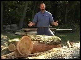 Woodworking <b>DIY</b> Tips: Cutting Lumber from Logs - YouTube