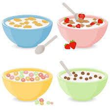 bowl of cereal clipart. Wonderful Clipart Bowls Of Breakfast Cereal Illustration For Bowl Of Cereal Clipart E