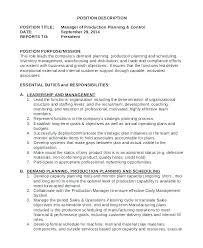 Production Planner Resume Demand Planner Resume Sample Production
