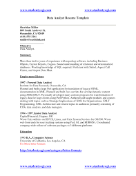 Sql Resume Example Sql Data Analyst Resume Free Resume Templates 58
