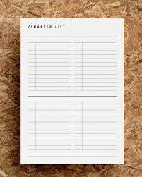 Master Task List Printable Task Planner Master To Do List Etsy