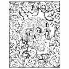 Tatoo Colouring Mexican Skulls Molde Stuff