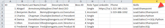 Sample Excel Files Creating An Excel Csv File For Import Organimi Help Center