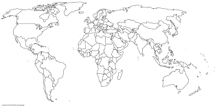 Web World Map Printable Coloring Pages Print Coloring