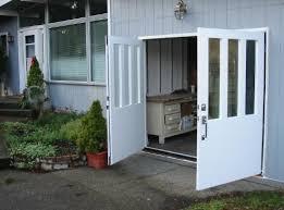 swing out garage doorsHandmade custom Swing Carriage House Garage Door and REAL