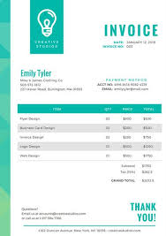 invoice template design customize 203 invoice templates online canva