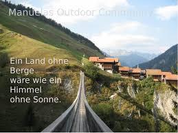 Berge Spruch Hängebrücke Mutschengia Schweiz Outdoor Community