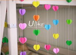 ulk p1 4 jpg  on 3d paper heart wall art with paper heart garland 3d red heart shape wedding decoration heart