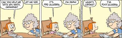 reading the comics what is pre algebra edition   can you help me my math grandma let me see
