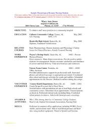 Nursing Student Resume Interesting Resume For Nurses Template And Examples Nursing Student Resumes