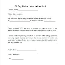 30 day notice to vacate apartment templates template 60 day notice letter template to landlord tenant vacate