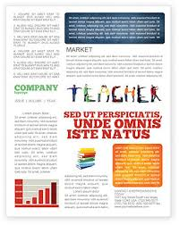 Class Newsletter Teacher Of Class Newsletter Template For Microsoft Word