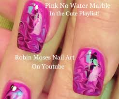 Robin Moses Nail Art: Black and White No water Marble!