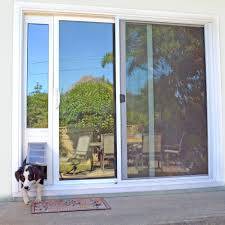 patio pacific quick panel 3e for sliding glass doors with french door with dog door two