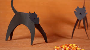 halloween kid craft paper cat parents