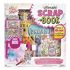 Just My Style Ultimate Scrapbook By Horizon Group Usa Diy Scrapbook Journal Kit Included Scrapbook Stickers Pen Scissors Glue Stick Gemstones