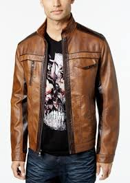 i n c men s jones two tone faux leather jacket created for macy s
