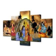 hd print 5 pcs wall art painting hanuman and shiva india buddhism ganesha canvas painting canvas on ganesh canvas wall art with china hd print 5 pcs wall art painting hanuman and shiva india