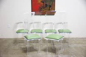 modern lucite dining chairs at vintage supply
