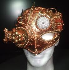 custom made steampunk time pirate leather mask