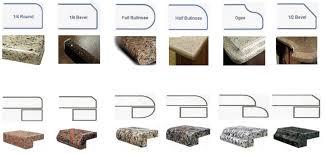 quartz countertop edge options bstcountertops