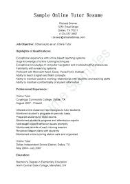 Free Online Resumes Amazing Online Resumes Samples Resume Samples Online Tutor Resume Sample