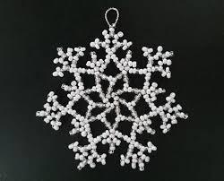 Baumschmuck Perlen Schneeflocke Mira Ein Designerstück