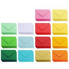 Amazoncom Supla 140 Pcs Mini Envelopes 14 Colors Gift Card