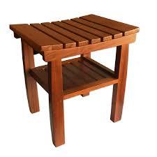 pollenex wood teak freestanding shower seat