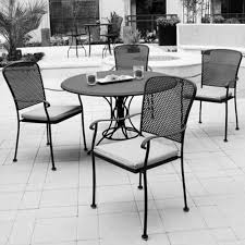 stylish metal patio furniture round metal patio table chairs tablehispurposeinme outdoor design inspiration
