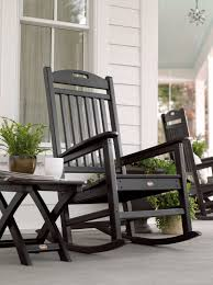 patio garden outdoor rocking chair seat cushions swivel outside sets rocker unique chairs full size black