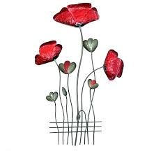 metal wall art red red metal wall decor metal poppy wall art red metal red fish