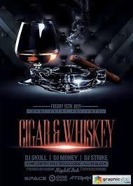 Cigar & Whiskey V11 Flyer Template » Free Download Vector Stock ...