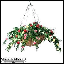 artificial outdoor hanging baskets flower basket with artificial hanging baskets outdoor uk plants morning glory basket silk