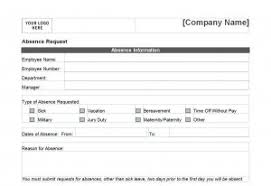 pto request template time off request form template word templates