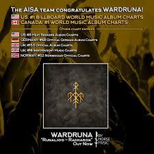 Wardruna Debut At 1 On Us Canada World Music Charts