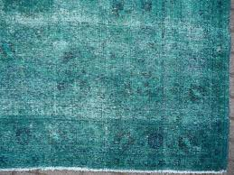 turkish distressed vintage emerald green overdyed rug in distressed condition for in lohr bavaria