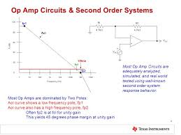 op amp circuits second order systems