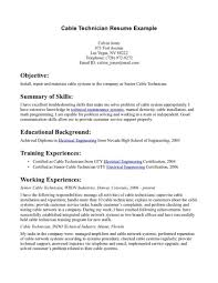 Resume Cover Letter Network Technicianples Engineer