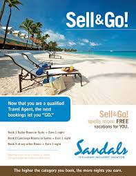 Incentive Flyer Spoiled Agent Member Area Hotels And Resorts Sandals Hotels
