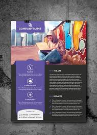 Corporate One Pager Graphic Design Flyer Flyer Design