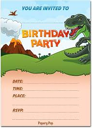 Dinosaur Birthday Invitation Dinosaur Birthday Invitations With Envelopes 15 Pack Kids Birthday Invitations For Boys Or Girls Dinosaur Party Decorations Supplies