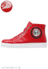 red versace shoes for men. versace red men high versus sneakers shoes for