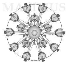 Kristall Kronleuchter 4080 15hkn 669sw Nickel Kristall